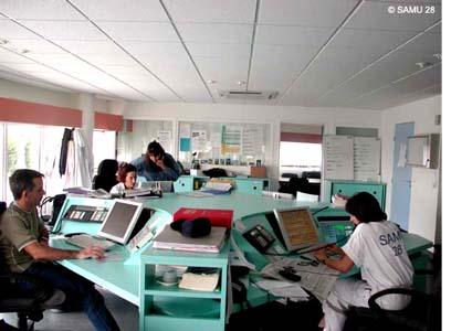 Salle de régulation du SAMU